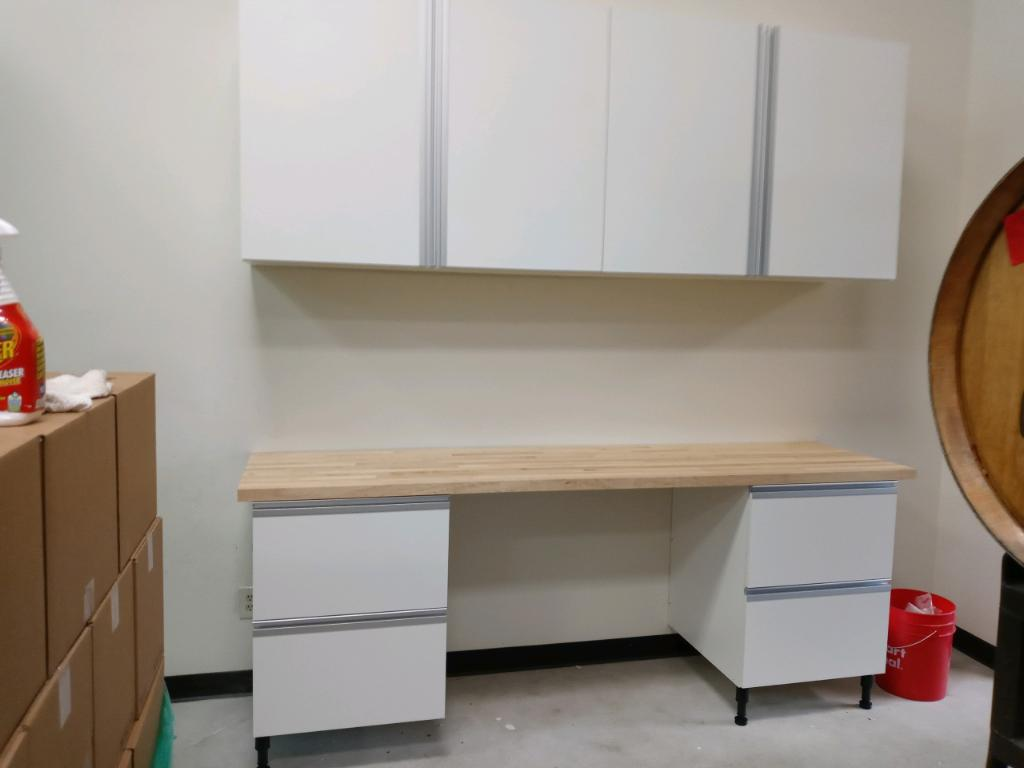 Commercial cabinets installed