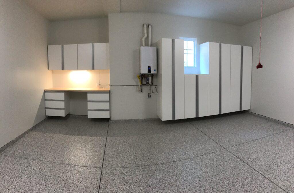 White cabinets installed in Santa Barbara